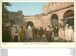 MAROC. Tanger. Les Trois Portes Du Carrefour Vers 1900 - Tanger