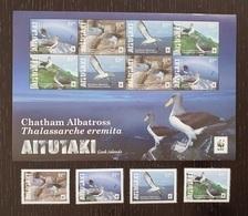 Aitutaki - Cook Islands 2016; WWF Animals & Fauna; Birds, Albatross; MNH, Neuf**, Postfrisch; S/S + Set; - Aitutaki