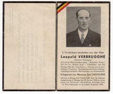 Bidprentje Oorlog Guerre War WOII Leopold VERBRUGGHE Brugge Weerstand Politieke Gevangene +08-1944 Natzweiler - Images Religieuses