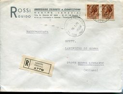 Italia (1971) - Raccomandata Da Mestre (VE) - 1946-.. République