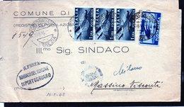 CG31 - Lettera Da Portogruaro Per Massino Visconti 10/8/19948 + Bollo R.Poste Comune Di Portogruaro - 1946-60: Marcofilie