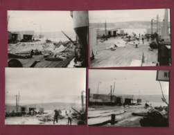 110420 - 8 PHOTOS 1968 - ISLANDE BORGARNES Usine Baleine Pêche - Island
