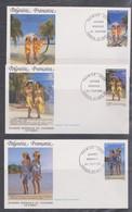 Frz. Polynesien - 1990 Tourismus Pareo Frauen Trachten - FDC - Costumes
