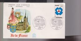 1991  F.D.C  Paris 04 03 1978 Ile De France  « Régions »  1611 - 1970-1979