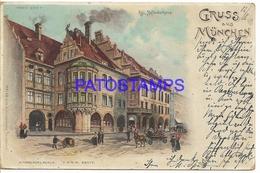 132148 GERMANY GRUSS AUS MÜNCHEN HOFBRÄUHAUS VIEW STREET CIRCULATED TO ARGENTINA POSTAL POSTCARD - Non Classificati