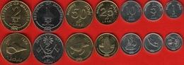 Maldives Set Of 7 Coins: 1 Laari - 2 Rufiyaa 2007-2012 UNC - Maldives
