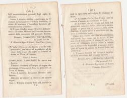1809 GIOACCHINO NAPOLEONE MURAT DECRETO SESSA AURUNCA - Decretos & Leyes