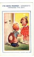 """I've Been Framed! Somebody's Varnished The Seat"", Bare Bum Boy,  Pre-1920 Bamforth Postcard By Signed Artist Taylor - Taylor"