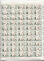 Feuille Complète De 50 Timbres Du N°1344 Blaise Pascal. - Full Sheets