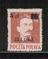 PL 1945 MI 389 Guaranteed Expert PZF Wysocki MNH - Nuevos