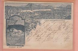 OUDE POSTKAART - ZWITSERLAND - SCHWEIZ -      LUZERN - LITHO 1891 - LU Luzern