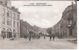 Cpa Beaucourt /  Place Centrale Et Rue De Saint- Dizier . - Beaucourt