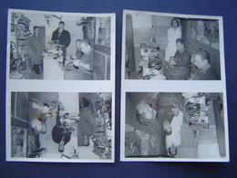 4 X PHOTOGRAPHIE Ancienne 1960 : CORDONNERIE / HYERES ( VAR ) - Métiers