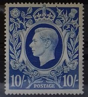 GRANDE BRETAGNE N° 234 COTE 35 € NEUF * MH 10 S Bleu 1942 - Unused Stamps