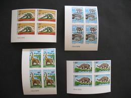 Bloc De 4 Coin Daté Non Dentelé Neuf ** MNH  - Imperf Dinosaures Animaux Préhistoriques Congo N° 275 à 278 - Congo - Brazzaville