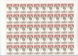 Feuille Complète De 50 Timbres Du N°1771 Molière. - Full Sheets