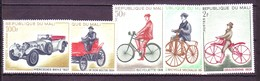Mali 1968 MiNr. 170 - 175  Transport Auto Cycling Bikes Cars  5v MNH** 10.00 € - Radsport