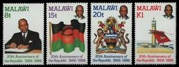 Malawi 1986 - Mi-Nr. 469-472 ** - MNH - 20 Jahre Republik - Malawi (1964-...)