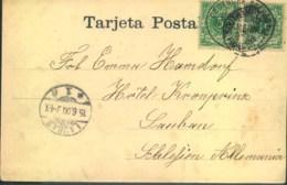 """1900, Anischtskarte """"Santa Cruz, Teneriffa"""" """"DEUTSCHE SEEPOST LINIE HAMBURG-SÜDAMERIKA"""" - Allemagne"""