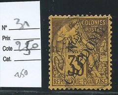 NOUVELLE CALEDONIE :  COLONIES FRANCAISES - N°31 - Oblitéré. Cote : 250€. Signé Calves. - Oblitérés