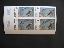 Bloc De 4 Coin Daté Non Dentelé Neuf ** MNH  - Imperf   Dinosaures Animaux Préhistoriques Congo N°403 - Congo - Brazzaville