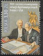 2019 Polen Mi.5180  **MNH    100 Jahre Diplomatische Beziehungen Mit Den Vereinigten Staaten Von Amerika. - Neufs