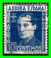 ESPAÑA VIÑETA DE 10 CÉNTIMOS CON LA IMAGEN DE JOSÉ ANTONIO PRIMO DE RIVERA. GUERRA CIVIL ESPAÑOLA (1936-1939). - 1931-Aujourd'hui: II. République - ....Juan Carlos I