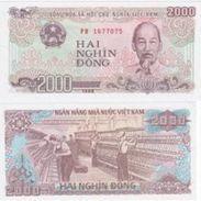 10 Pieces Vietnam 2000 Dong 1988 UNC - Viêt-Nam