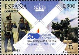 España 2015 Edifil 4947 Sello ** Efemérides Aniversario Real Colegio De Artillería (1764-2014) Segovia 0,90€ Spain Stamp - 1931-Today: 2nd Rep - ... Juan Carlos I