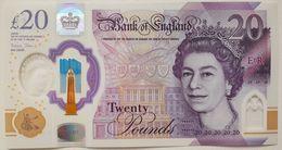 UK Great Britain 20 Pounds 2018 UNC P- 396 Polymer ( 2020 ) - 1952-… : Elizabeth II