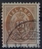 ISLANDE DEPENDANCE DANOISE N° 9 COTE 50 € OBLITERE 16 A Bistre 1876 - Usados