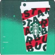Thailand Starbucks Card Red Cup Diecut - 2019 - 6169 - Gift Cards
