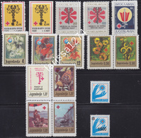 Yugoslavia 1986 - 1993 Surcharge Struggle Against Cancer Stamps All Issues MNH - Portomarken