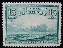1930 URUGUAY HINGED CENT. INDEPENDENCIA INDEPENDENCE  15 C. Yvert 401 - Uruguay
