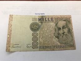 Italy Marco Polo Banknote 1000 Lire 1982 #7 - [ 1] …-1946: Königreich