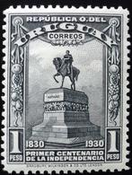 1930 URUGUAY HINGED CENT. INDEPENDENCIA INDEPENDENCE 1 Peso Monumento Artigas Fruits Yvert 405 - Uruguay