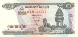 Cambodia P.41 100 Riels 1995 Unc - Cambogia