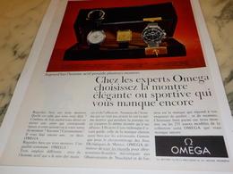 ANCIENNE PUBLICITE POUR HOMME ACTIF  MONTRE OMEGA 1967 - Joyas & Relojería