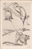 AK Künstlerkarte Julius Diez - Frühling - Elfe Mit Blumen - Münchner Nothilfe-Lotterie April 1933 (48915) - Altre Illustrazioni