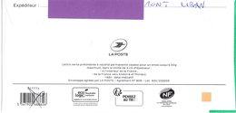 Nouveau Verso - Ecologic - Pensez Au Tri - Lettre Verte Monuments - B2K/232005 - Stiker Suivi - Entiers Postaux