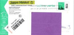 Alimentation - Ales - Gard - Lettre Verte Monuments - B2K/138739 - Stiker Suivi - Entiers Postaux