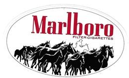 Autocollant - Sticker - MARLBORO Filter Cigarettes - Cow-boy, Cheval, Chevaux - Stickers
