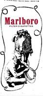 Autocollant - Sticker - MARLBORO Filter Cigarettes - Cow-boy, Lasso, Cheval, - Stickers