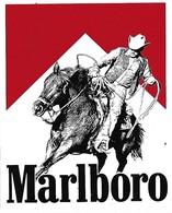 Autocollant - Sticker - MARLBORO  Cheval Lasso Cow-boy - Stickers