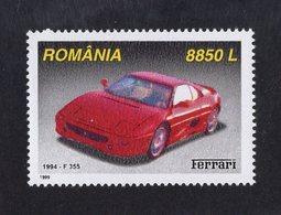 Romania 1999  -  Ferrari F355  (1994)    -  1v Timbre Neuf/Mint/MNH - Coches