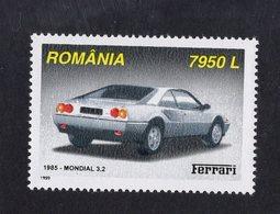 Romania 1999  -  Ferrari Mondial 3.2  (1985)    -  1v Timbre Neuf/Mint/MNH - Coches