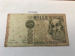 Italy Marco Polo Banknote 1000 Lire 1982 #8 - [ 1] …-1946 : Regno