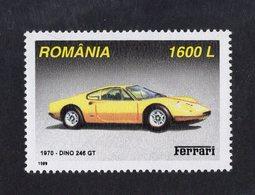 Romania 1999  -  Ferrari Dino 246 GT  (1970)    -  1v Timbre Neuf/Mint/MNH - Coches