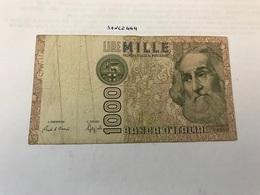 Italy Marco Polo Banknote 1000 Lire 1982 #9 - [ 1] …-1946 : Regno