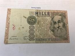 Italy Marco Polo Banknote 1000 Lire 1982 #10 - [ 1] …-1946 : Regno